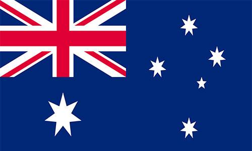 پرچم استرالیا و زبان و خط استرالیا