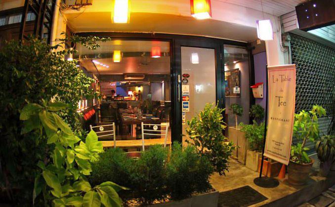 رستوران های بانکوک - رستوران لا تیبل دِ تی